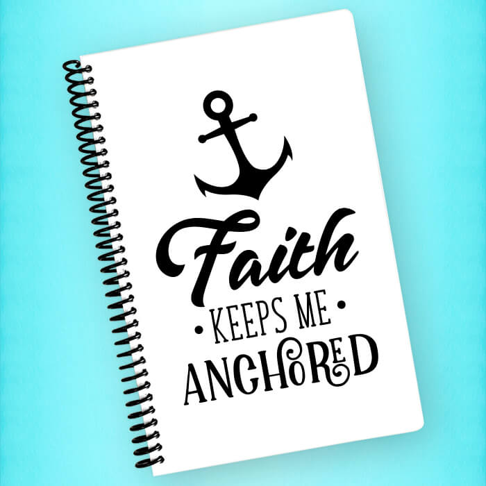 Faith Keeps Me Anchored Spiral Notebook - Blush Buffalo
