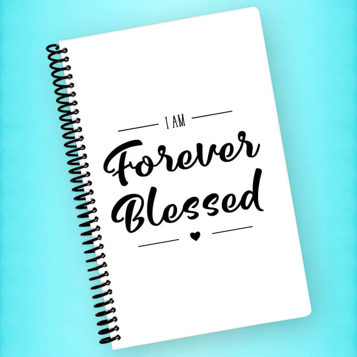 Forever Blessed Spiral Notebook - Blush Buffalo