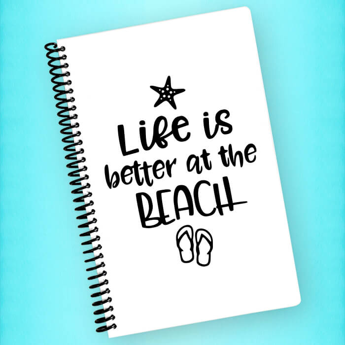 Life is Better at the Beach Spiral Notebook - Blush Buffalo