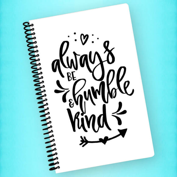 Always Be Humble & Kind Spiral Notebook - Blush Buffalo