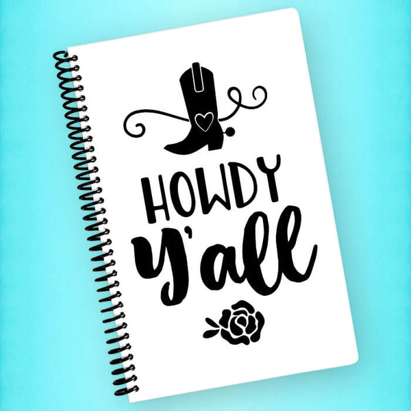Howdy Y'all Spiral Notebook - Blush Buffalo