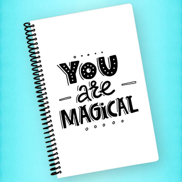 You Are Magical Spiral Notebook - Blush Buffalo