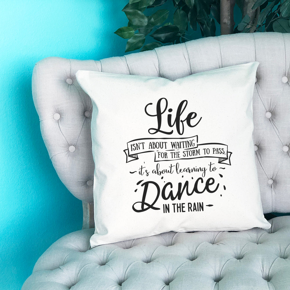 Learning to Dance in the Rain Throw Pillow