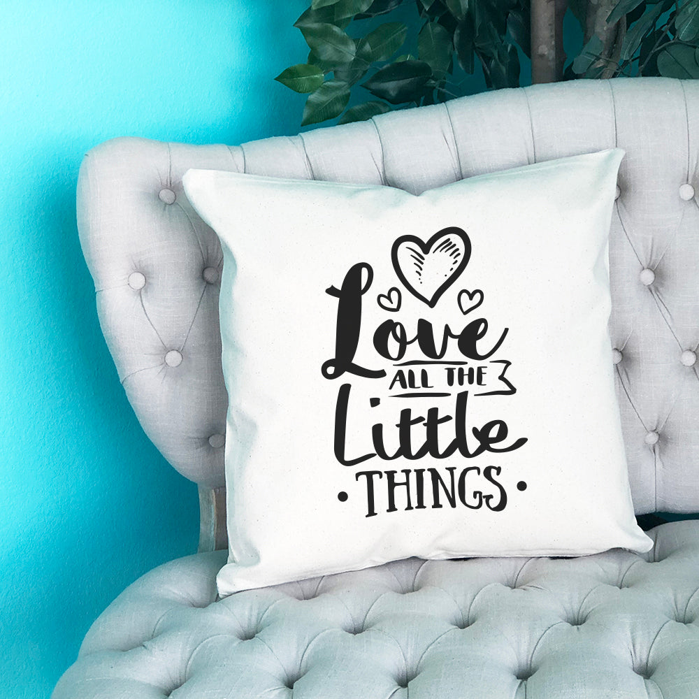 Love all the Little Things Throw Pillow - Blush Buffalo