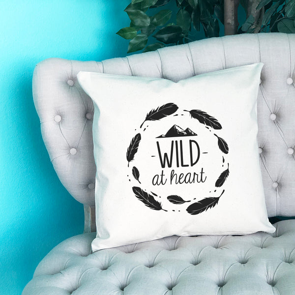 Wild at Heart Throw Pillow - Blush Buffalo