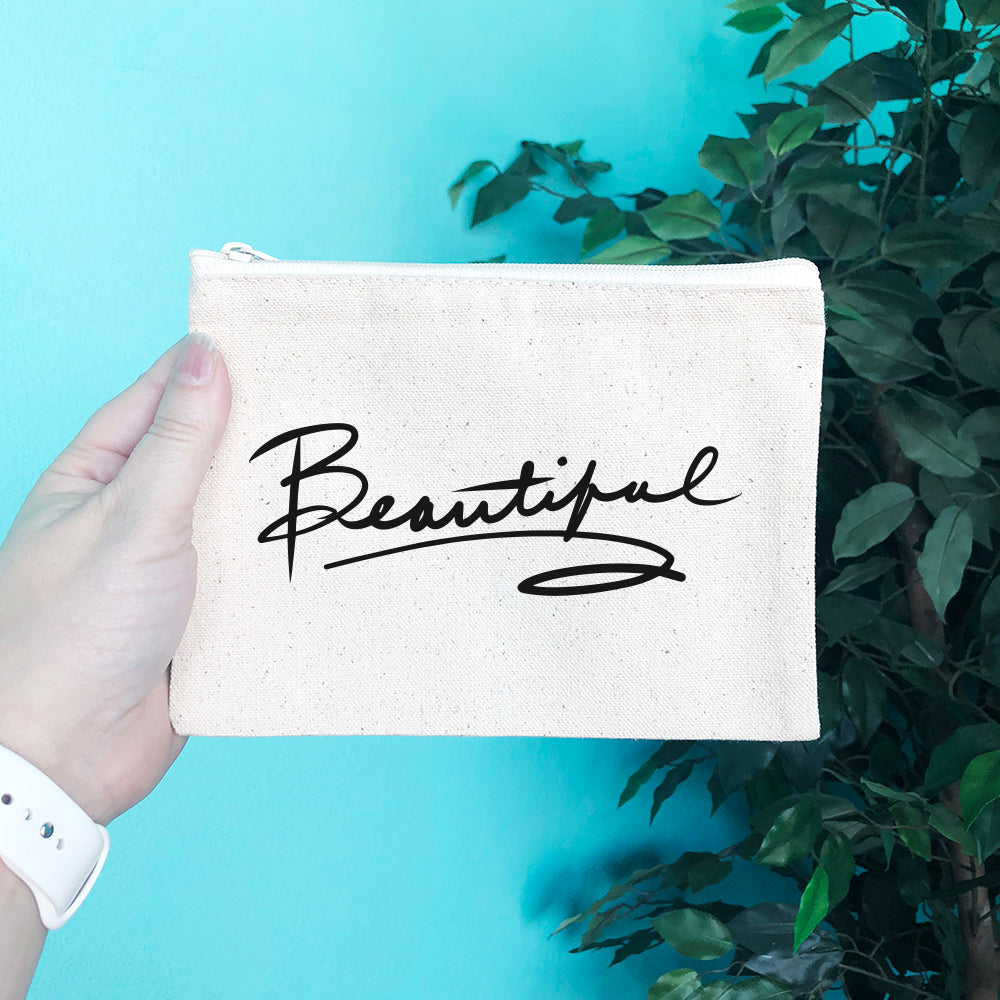 Beautiful Pencil & Makeup Bag - Blush Buffalo
