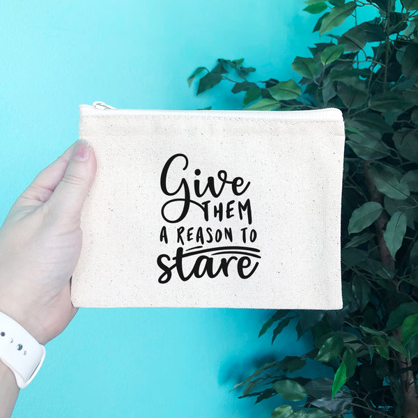 Give Them a Reason to Stare Pencil & Makeup Bag - Blush Buffalo