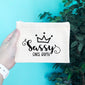 Sassy Since Birth Pencil & Makeup Bag - Blush Buffalo