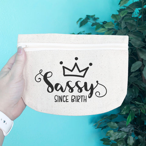 Sassy Since Birth Pencil & Makeup Bag