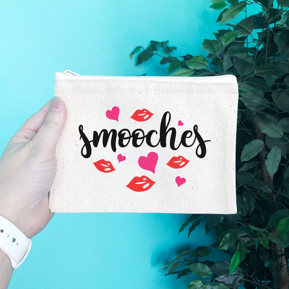 Smooches Pencil & Makeup Bag - Blush Buffalo