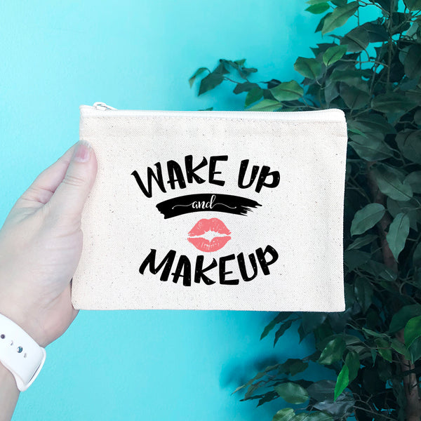 Wake Up and Make Up Pencil & Makeup Bag - Blush Buffalo