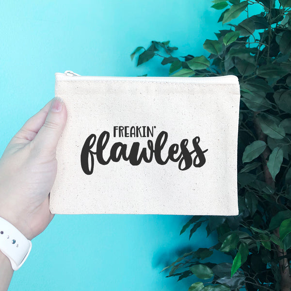 Freakin' Flawless Pencil & Makeup Bag - Blush Buffalo