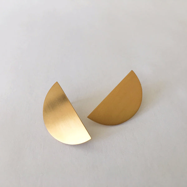 Geo Half Circle Earrings