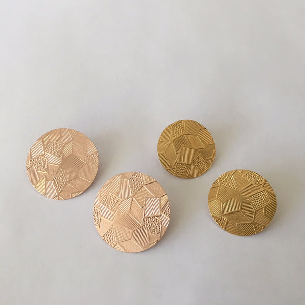 Geometric Roll Pressed Post Earrings