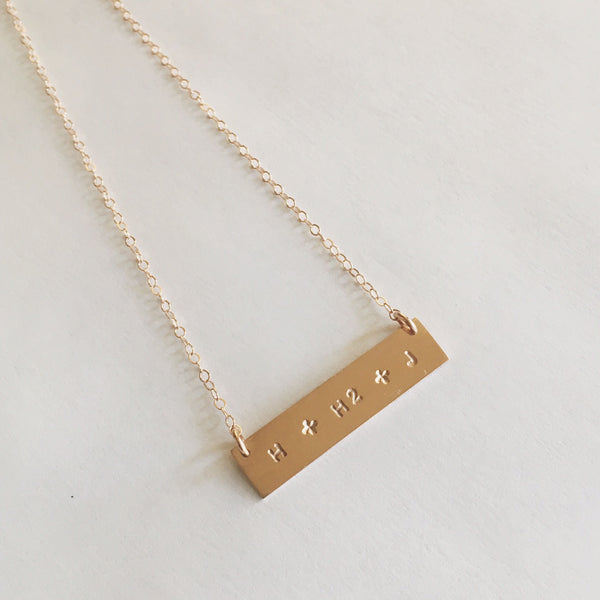 Custom Stamped Bar Necklace