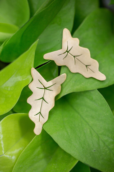 Anthurium Leaf Post Earrings
