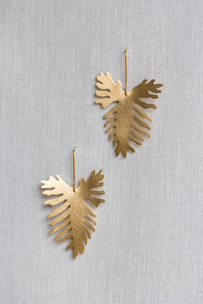 Split Leaf Philodendron Drop Earrings