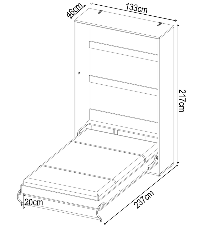 CP-02 Vertical Wall Bed Concept 120cm