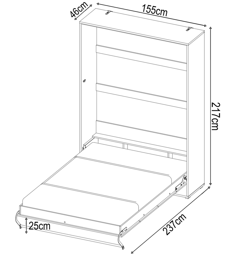 CP-01 Vertical Wall Bed Concept 140cm