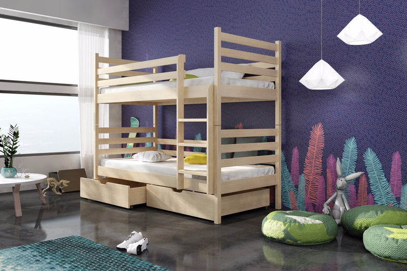 Wooden Bunk Bed Nemo with Storage