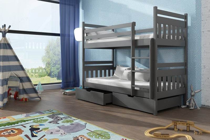 Wooden Bunk Bed Adas with Storage