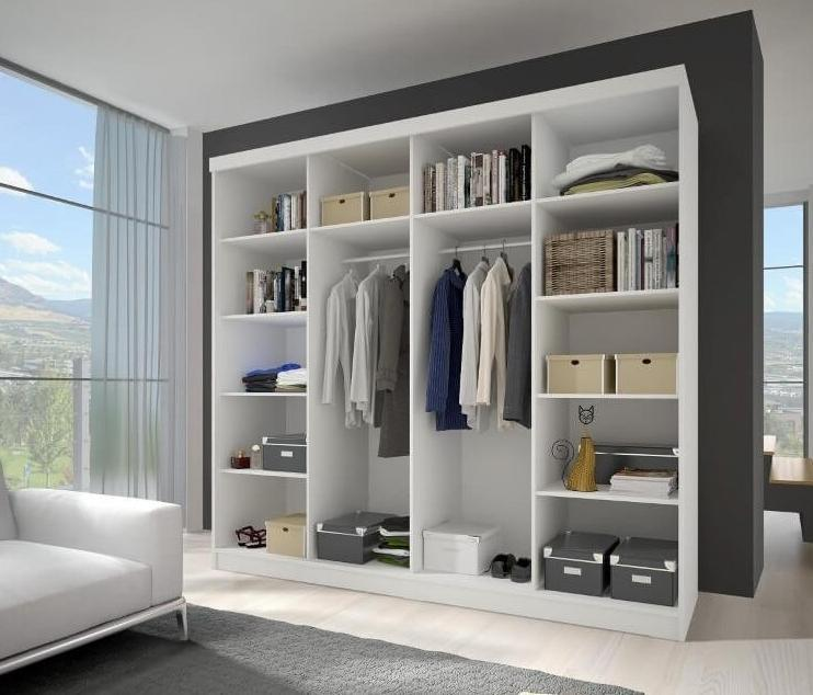 Multi 32 Sliding Mirror Door Wardrobe 233cm