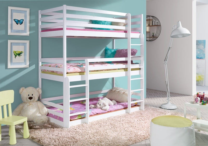 Wooden Triple Bunk Bed Ted