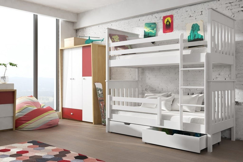 Wooden Bunk Bed Bruno with Storage