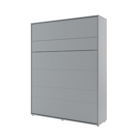 BC-12 Vertical Wall Bed Concept 160cm in Grey Matt