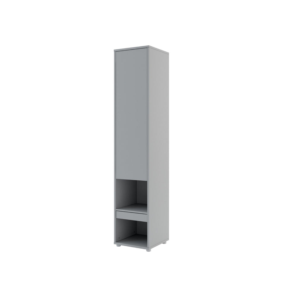 BC-07 Tall Storage Cabinet for Vertical Wall Bed Concept in Grey Matt