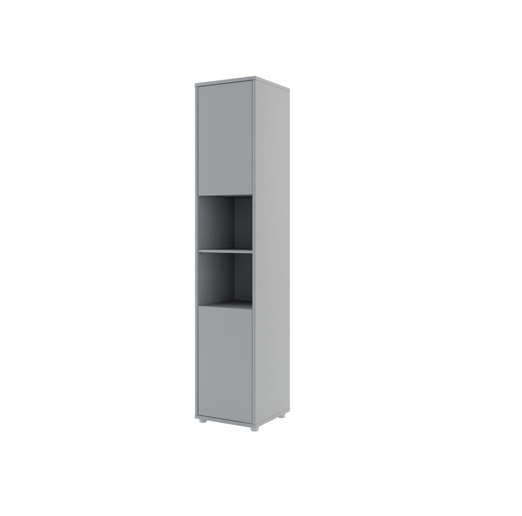 BC-08 Tall Storage Cabinet for Vertical Wall Bed Concept in Grey Matt