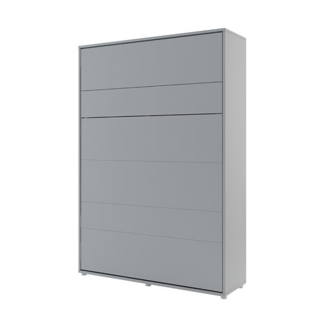 BC-01 Vertical Wall Bed Concept 140cm in Grey Matt