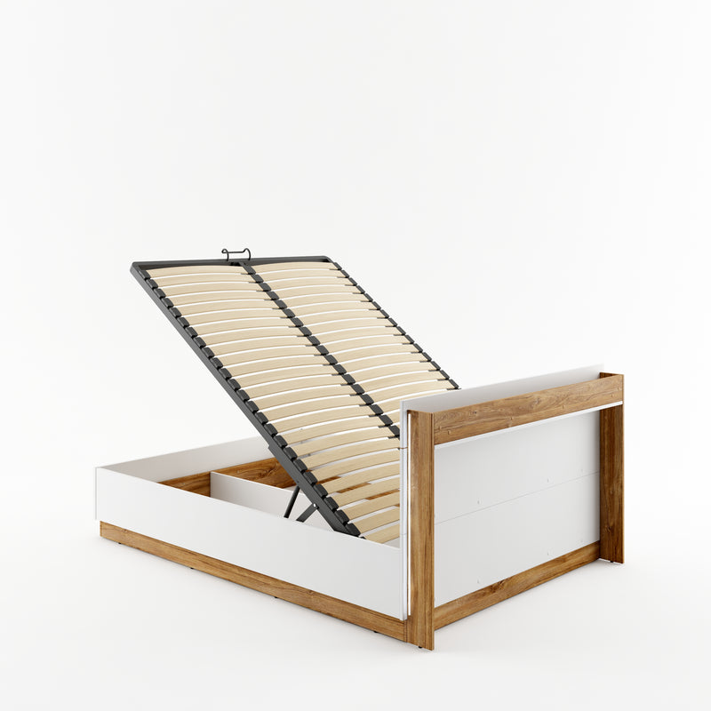 Dentro DT-02 Bed with Storage and LED 140cm