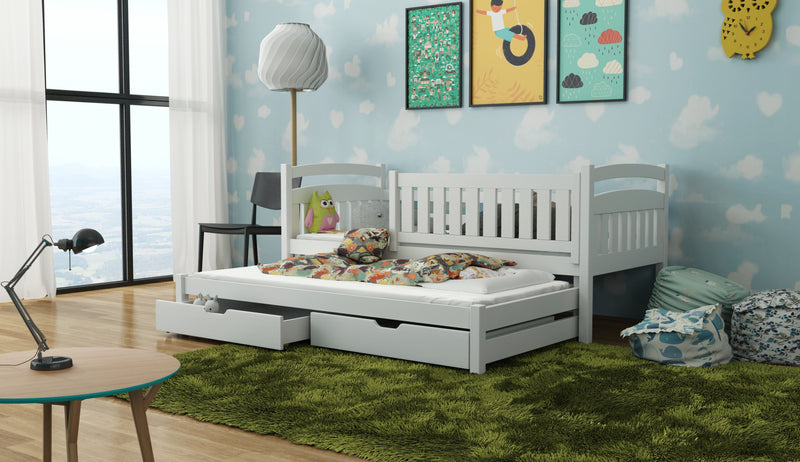 Wooden Bed Galaxy with Trundle and Storage