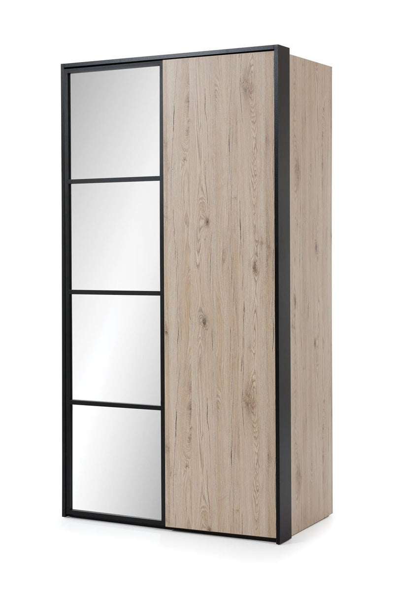 Glass Loft 2 Door Wardrobe 109cm