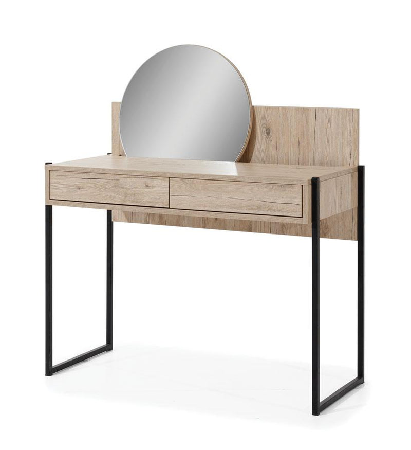 Glass Loft Dressing Table with Mirror