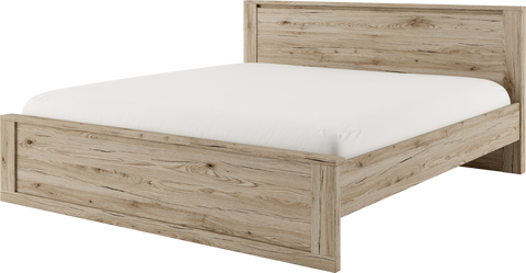 Idea ID-08 Bed Frame in Oak San Remo
