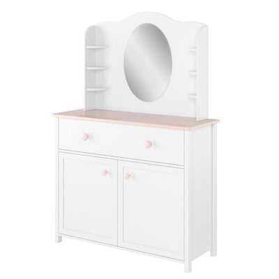 Luna LN-06 Desk Hutch with Mirror