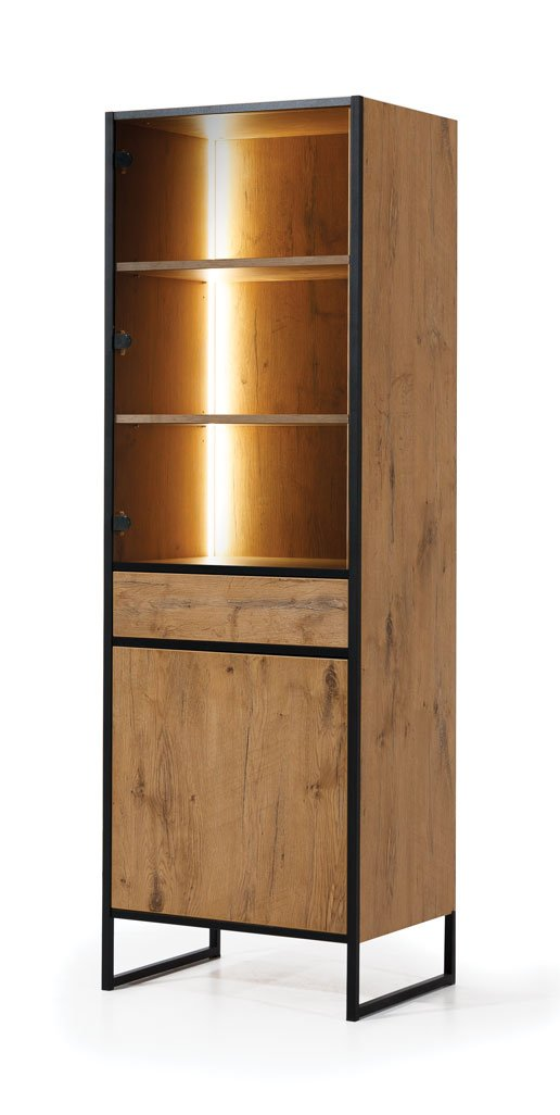 Loft Tall Display Cabinet 60cm with LED