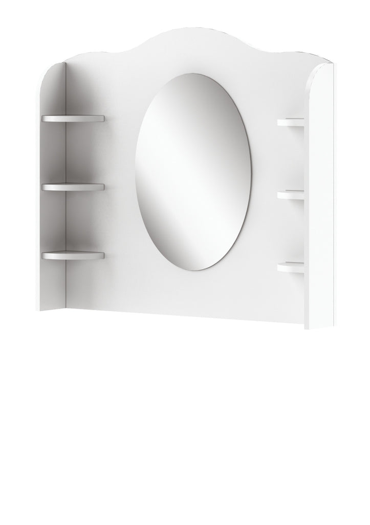 Mia MI-06 Desk Hutch with Mirror