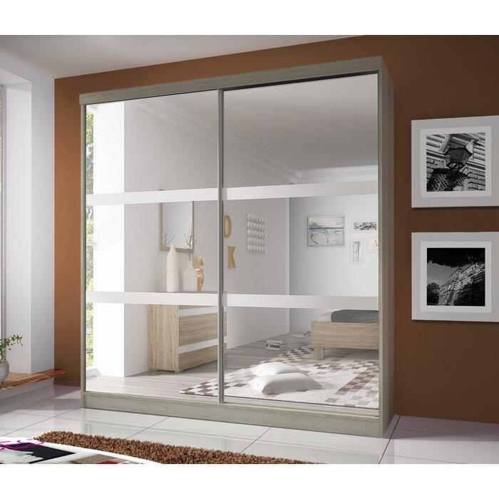 Multi 10 Sliding Mirror Door Wardrobe 183cm