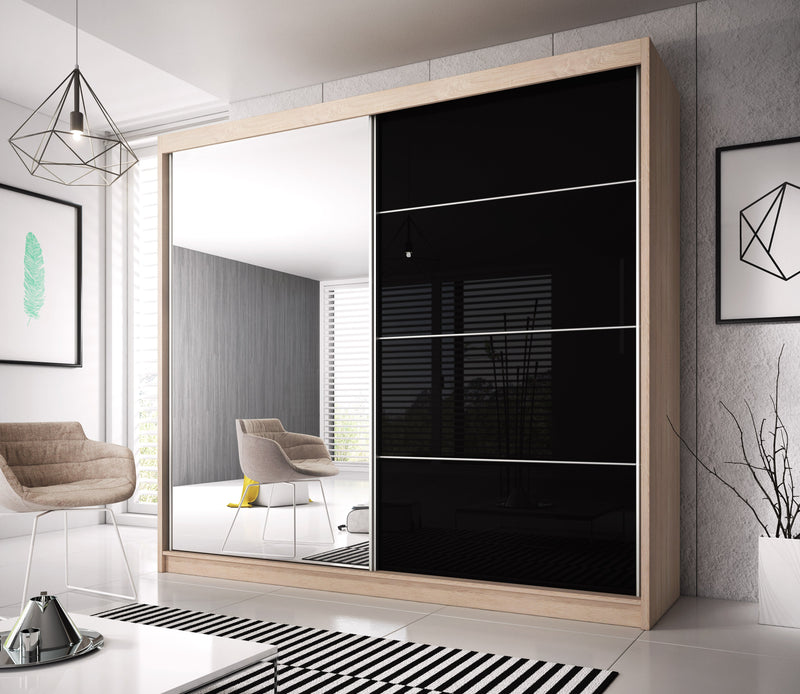 Multi 31 Sliding Mirror Door Wardrobe 233cm