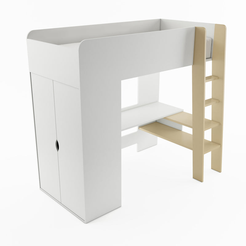 Tom TM-01 Bunk Bed with Computer Desk and Wardrobe