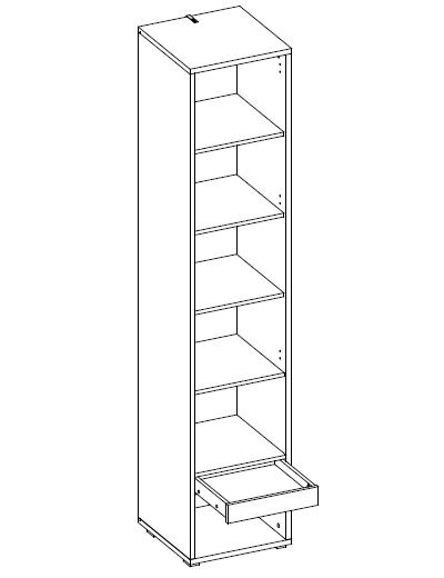 CP-07 Tall Storage Cabinet for Vertical Wall Bed Concept