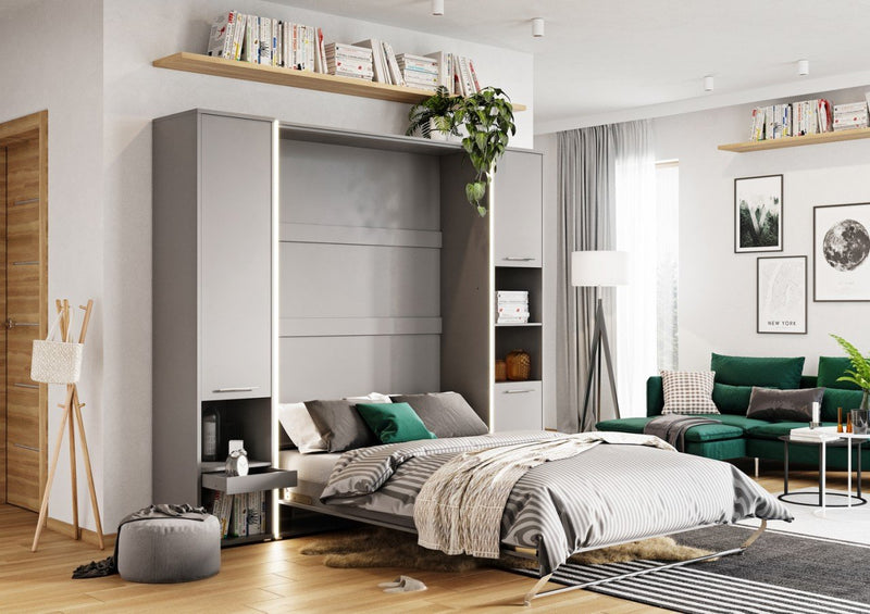 CP-03 Vertical Wall Bed Concept 90cm with Storage Cabinet
