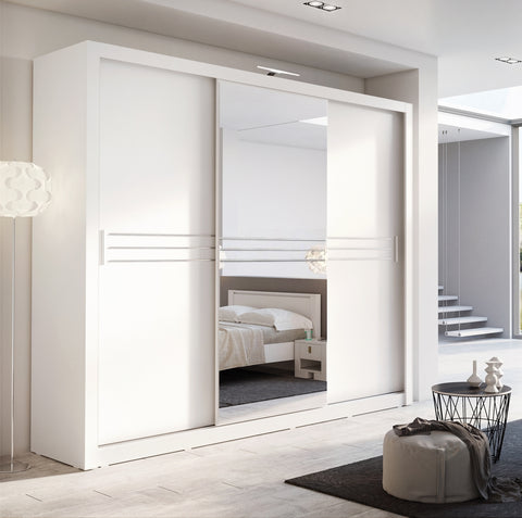 Havana ID-11 Sliding Door Wardrobe 250cm in White Matt