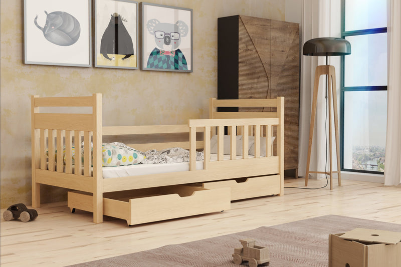 Wooden Single Bed Kasia With Storage