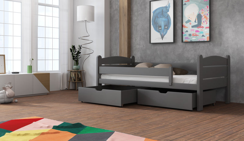 Wooden Bed Maciej with Storage