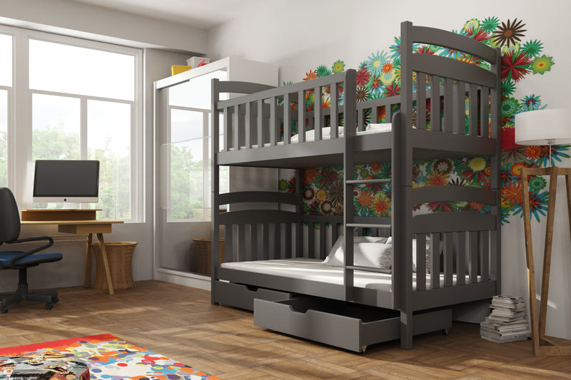 Wooden Bunk Bed Michas with Storage