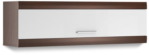 Bordo Wall Hanging Cabinet 05 in Oak Chocolate and White Gloss